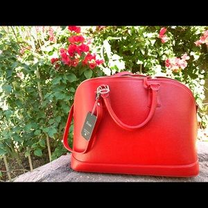 Fiore NWT Prezzo Red Leather Handbag